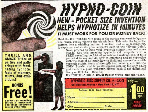 Ad for Hypno-coin.