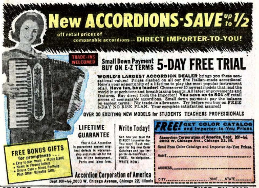 Ad for accordions.